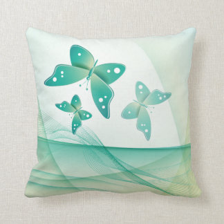 Sheer Green Butterfly Veil American MoJo Throw Pillow
