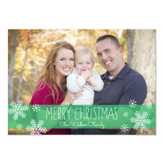 Sheer Green Christmas Photo Card