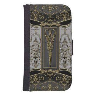 Sheer Hazlehurst Antiqued Scissors 4th Galaxy S4 Wallet Case