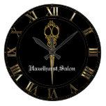 Sheer Hazlehurst Antiqued Scissors Timepiece Large Clock at Zazzle