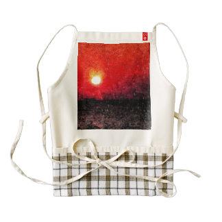 Sheer hell of a bright sun zazzle HEART apron