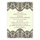 Sheer Lace Bridal Shower 5x7 Paper Invitation Card