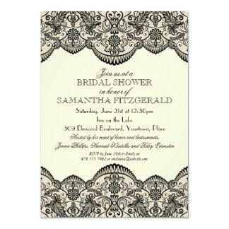 Sheer Lace Bridal Shower Card