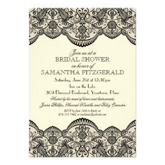 Sheer Lace Bridal Shower Custom Announcement
