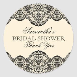 Sheer Lace Bridal Shower Stickers