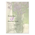 "Sheer Mason Jar Lavender Wedding Invitation 5"" X 7"" Invitation Card"