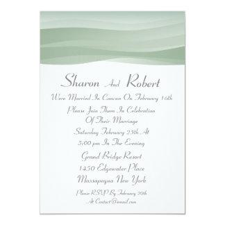 Sheer Myst Post Wedding Invitations
