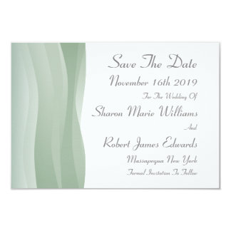 Sheer Myst Save The Date Card