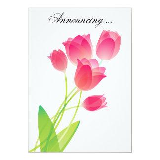 Sheer Pink Tulips Card