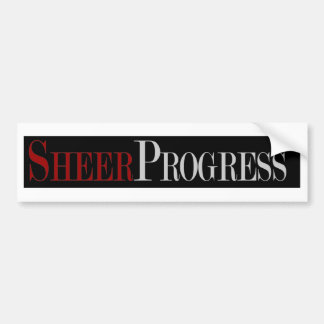 Sheer Progress Gifts Bumper Stickers