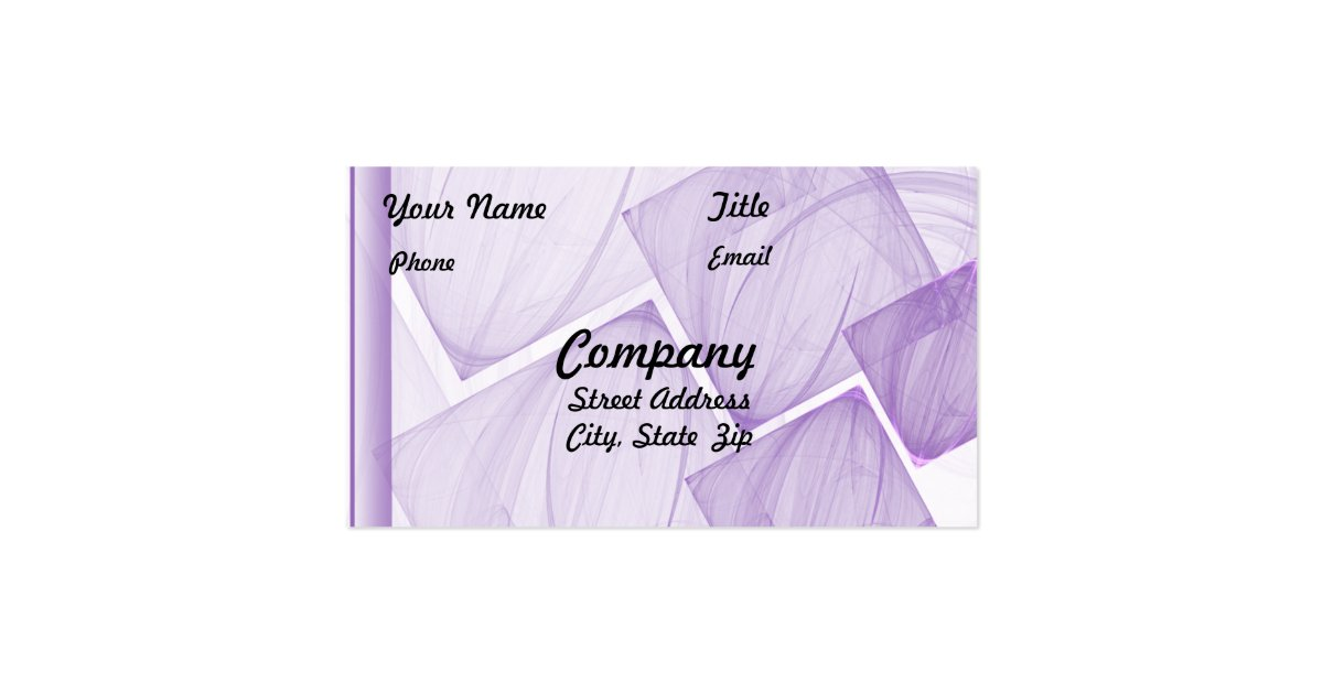 Sheer Purple Tile Business Card