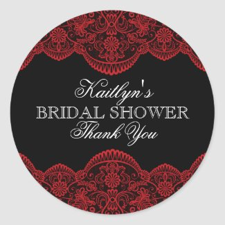 Sheer Red Lace Bridal Shower