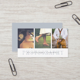 Sheer Stripe   Multi Photo Photographer Business Card