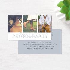 Sheer Stripe   Multi Photo Photographer Business Card at Zazzle