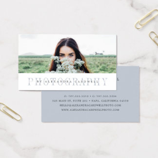 Sheer Stripe | Photographer Business Card