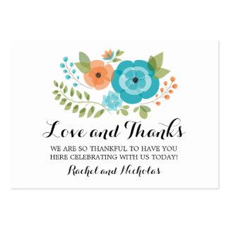 Sheer Summer Flowers   Favor Tag Large Business Card