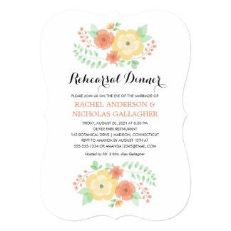 Sheer Summer Flowers   Rehearsal Dinner Card