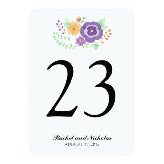 Sheer Summer Flowers   Table Number Card