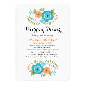 Sheer Summer Flowers   Wedding Shower Card