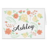 Sheer Summer Flowers | Will you be my bridesmaid? Stationery Note Card