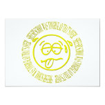 """Sheesh! School was tough! Glad that's over! 5"""" X 7"""" Invitation Card"""