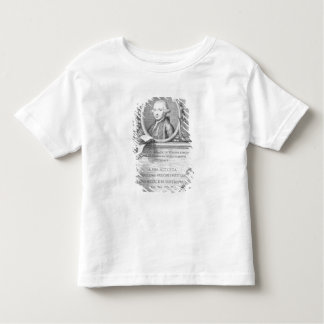 Sheet Cover with a portrait of Felice Giardini Toddler T-shirt