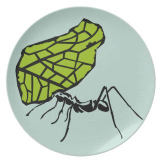 Sheet cut ant nature Stencil Dinner Plate
