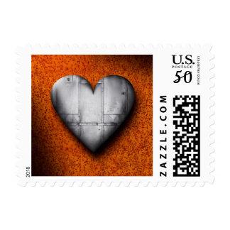 Sheet Metal Heart Postage Stamp
