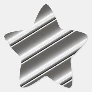 Sheet metal star sticker