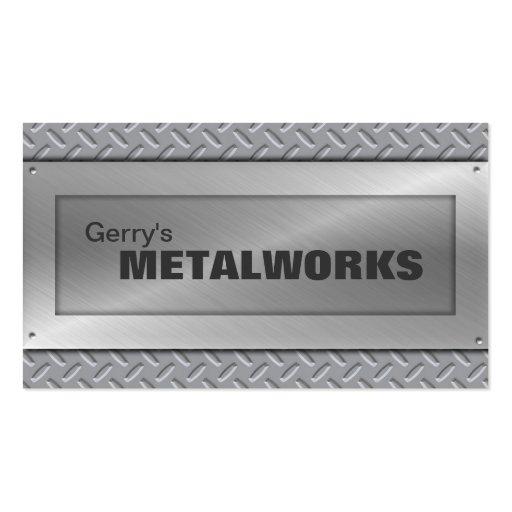 Sheet Metal Trade Business Card - Black & Silver
