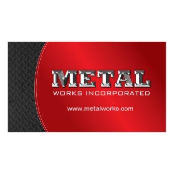 SHEET METAL WORKER BUSINESS CARD