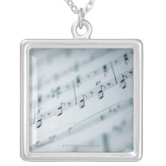 Sheet Music 10 Silver Plated Necklace