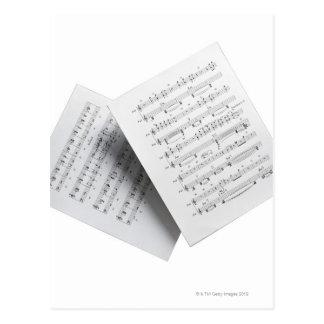 Sheet Music 12 Postcard