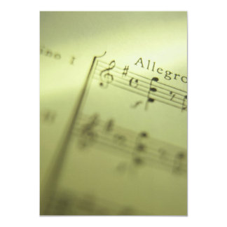 Sheet Music 1 Card