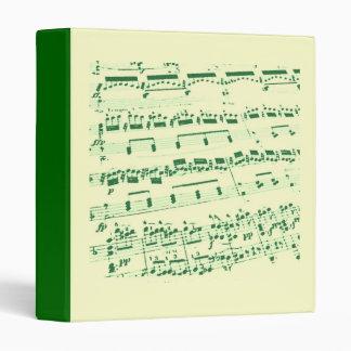 Sheet Music 3 Ring Binder
