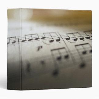 Sheet Music 4 3 Ring Binder