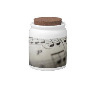 Sheet Music 4 Candy Jars