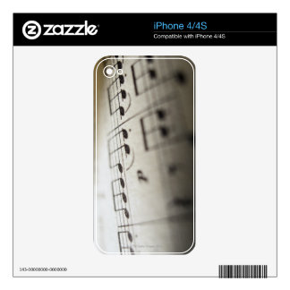 Sheet Music 4 Decals For The iPhone 4