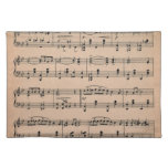 Sheet Music 6 Cloth Placemat