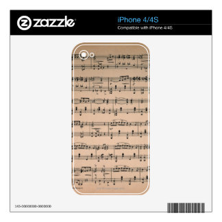Sheet Music 6 Skin For iPhone 4