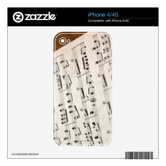 Sheet Music 7 Decal For The iPhone 4S