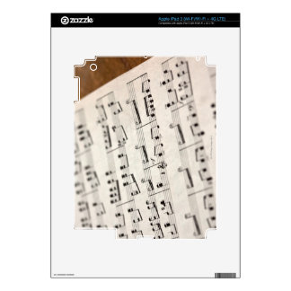 Sheet Music 7 Decal For iPad 3