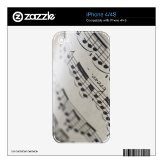 Sheet Music 9 iPhone 4 Decal