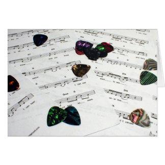 Sheet Music And Guitar Picks Cards