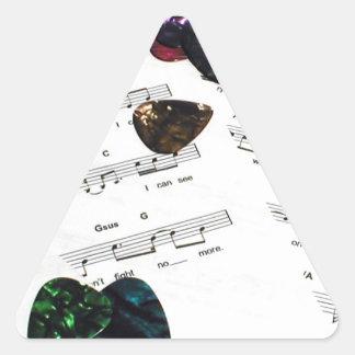 Sheet Music And Guitar Picks Triangle Sticker