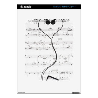 Sheet Music and Headphones iPad 3 Decals
