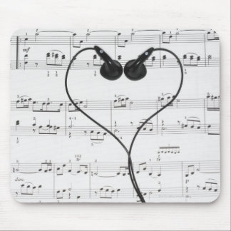 Sheet Music and Headphones Mouse Pad