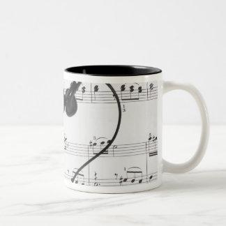 Sheet Music and Headphones Coffee Mug