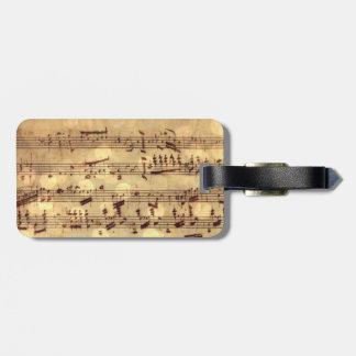 Sheet Music Bag Tag