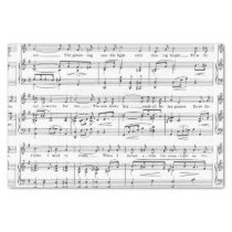 Sheet Music Black and White Pattern